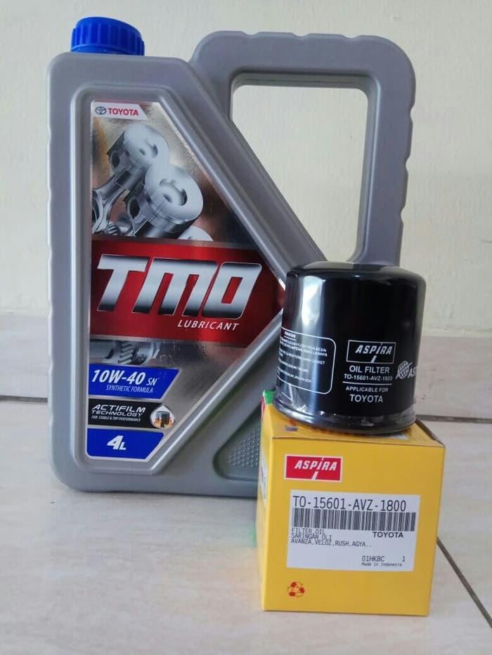 Promo Bundling Oli Mobil TMO 10W-40 (4 L) & Filter Oli AVANZA, XENIA