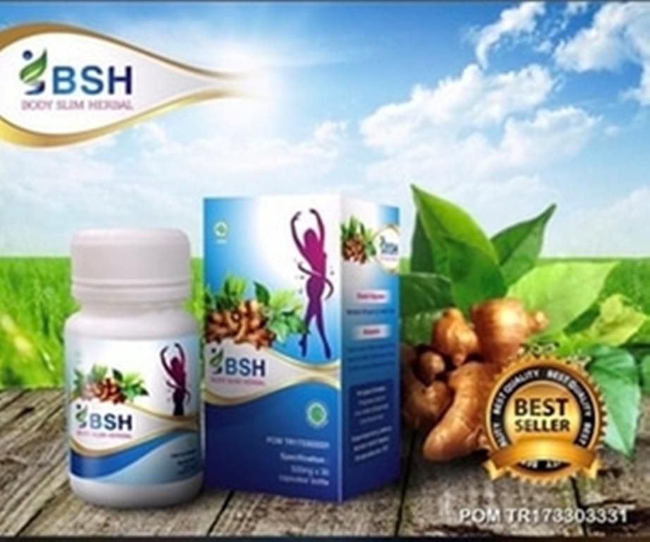 BSH Kapsul / Body Slim Herbal Capsule Original 100% BPOM - Obat Pelangsing Badan Herbal