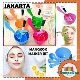 HW-MM-12 Mangkuk Masker Wajah 1 SET 4 IN 1 Kosmetik DIY Kuas Murah COD thumbnail