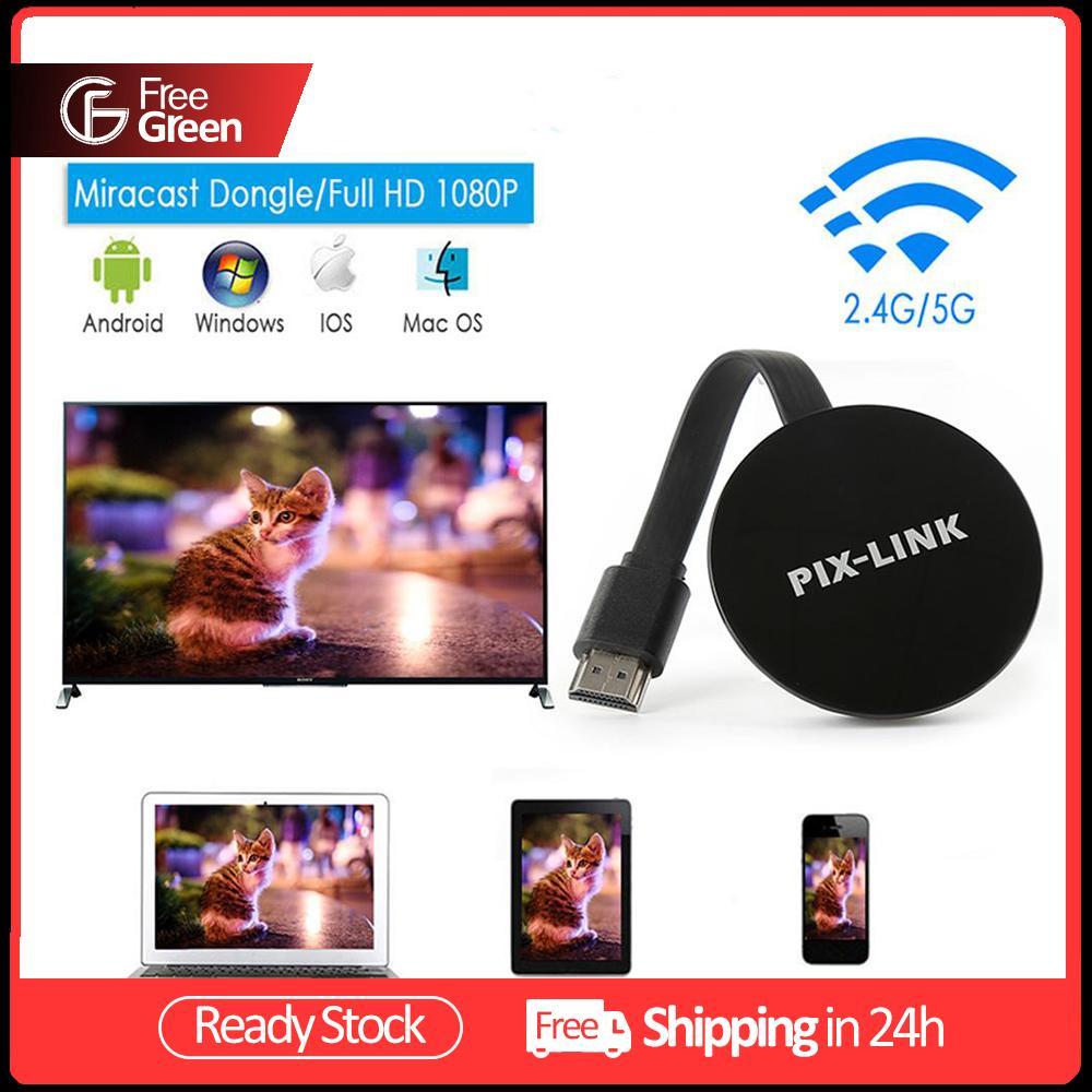 Freegreen P5 Plus Wireless Wifi Hd Same Screen Device 2.4g/5g Dual Frequency Hdmi Display Receiver For Netflix Google Youtub.