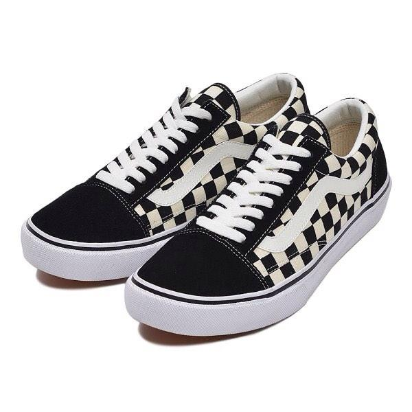 7360572fbc Sepatu Vans Checkerboard Catur Sneakers Kotak Pria Wanita Hitam Putih