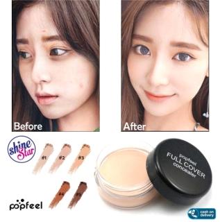 SHINE STAR - NEW IMPORT POPFEEL CONCEALER CREAM WATERPROOF - Popfeel Cream Full Cover Concealer - Popfeel Eyebrow Concealer - 5 Varian Warna thumbnail