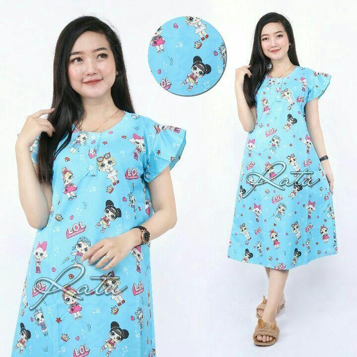 piyama Pakaian malam baju tidur wanita ibu menyusui busui motif karakter lucu harga promo Grosir Murah
