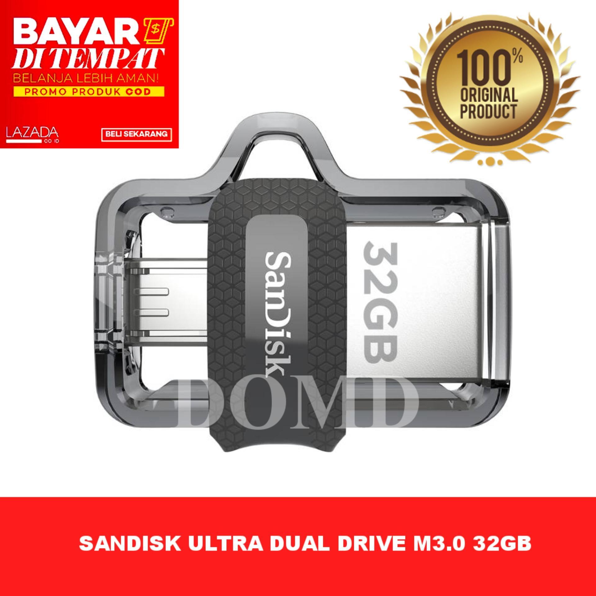 Sandisk Otg Ultra Dual Drive M3.0 32gb Usb 3.0 Flashdisk Otg Original Garansi Resmi Sandisk 5 Tahun By Domd.