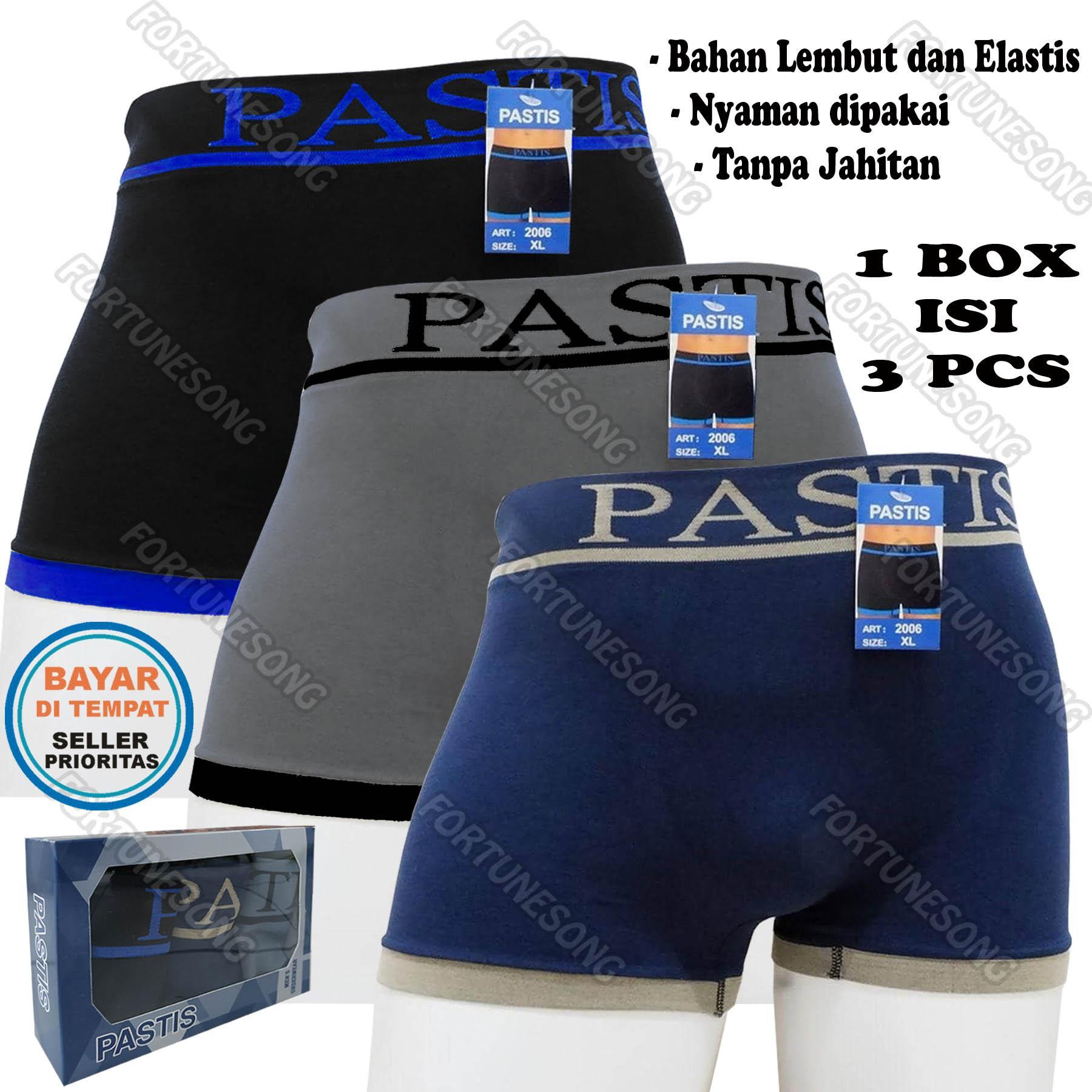 3 Pcs Celana Dalam Boxer Pria Variasi Premium Tanpa Jahitan (1 box isi 3 pcs be90ef880f