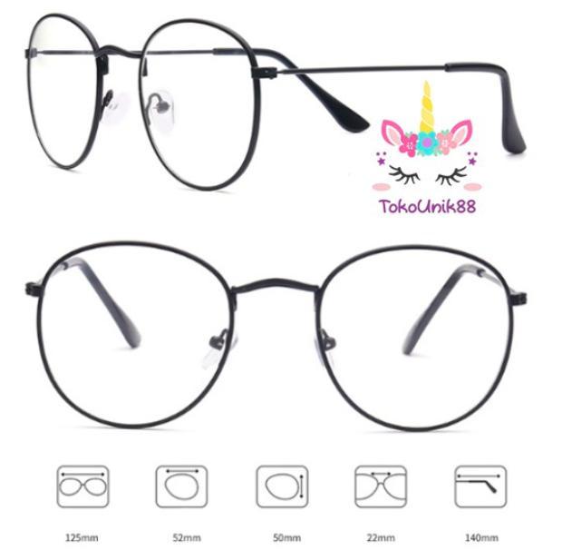 TU88 Kacamata Oval Model Korea Untuk Pria Wanita Design Model Gaya Korea Frame  Kacamata Oval SG005 f4fb1216a1