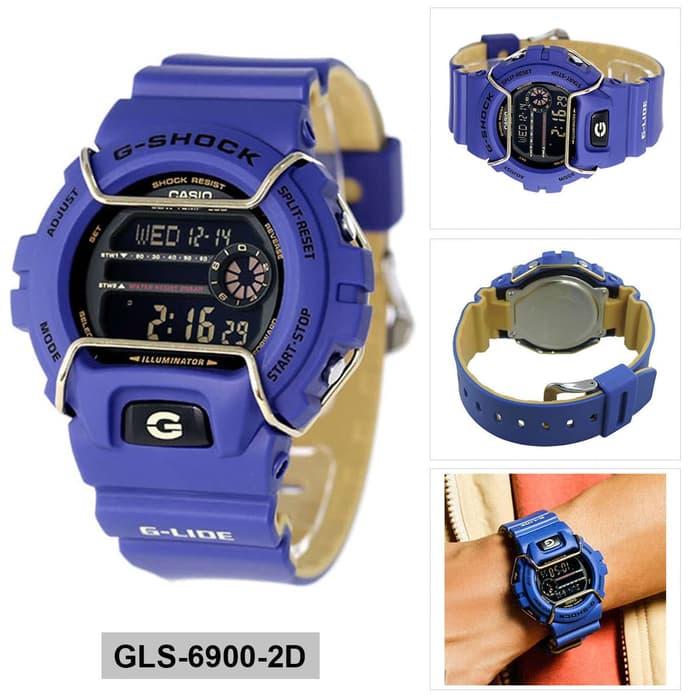 JAM TANGAN TERBARU TERLARIS SPORT G_SHOCK_GLS-6900 BLUE YELLOW