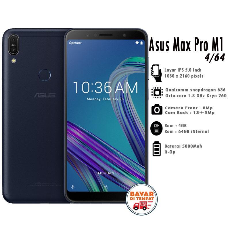 Asus Zenfone Max Pro (M1) ZB602KL Ram 4GB/64GB - Gratis Silicon Case