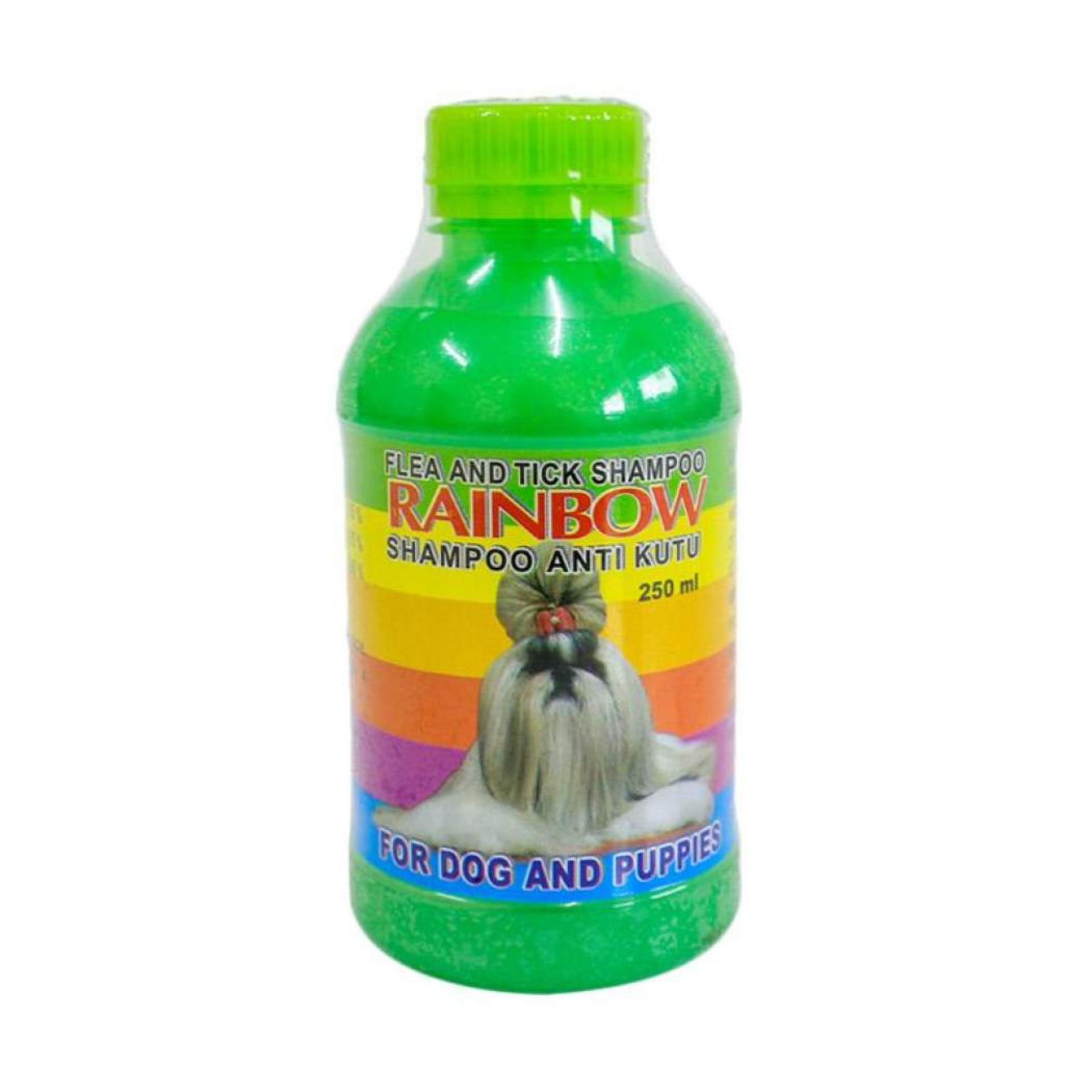 Shampoo Anti Kutu Anjing & Flea Rainbow Ukuran 250ml Hijau By Selaludihati.