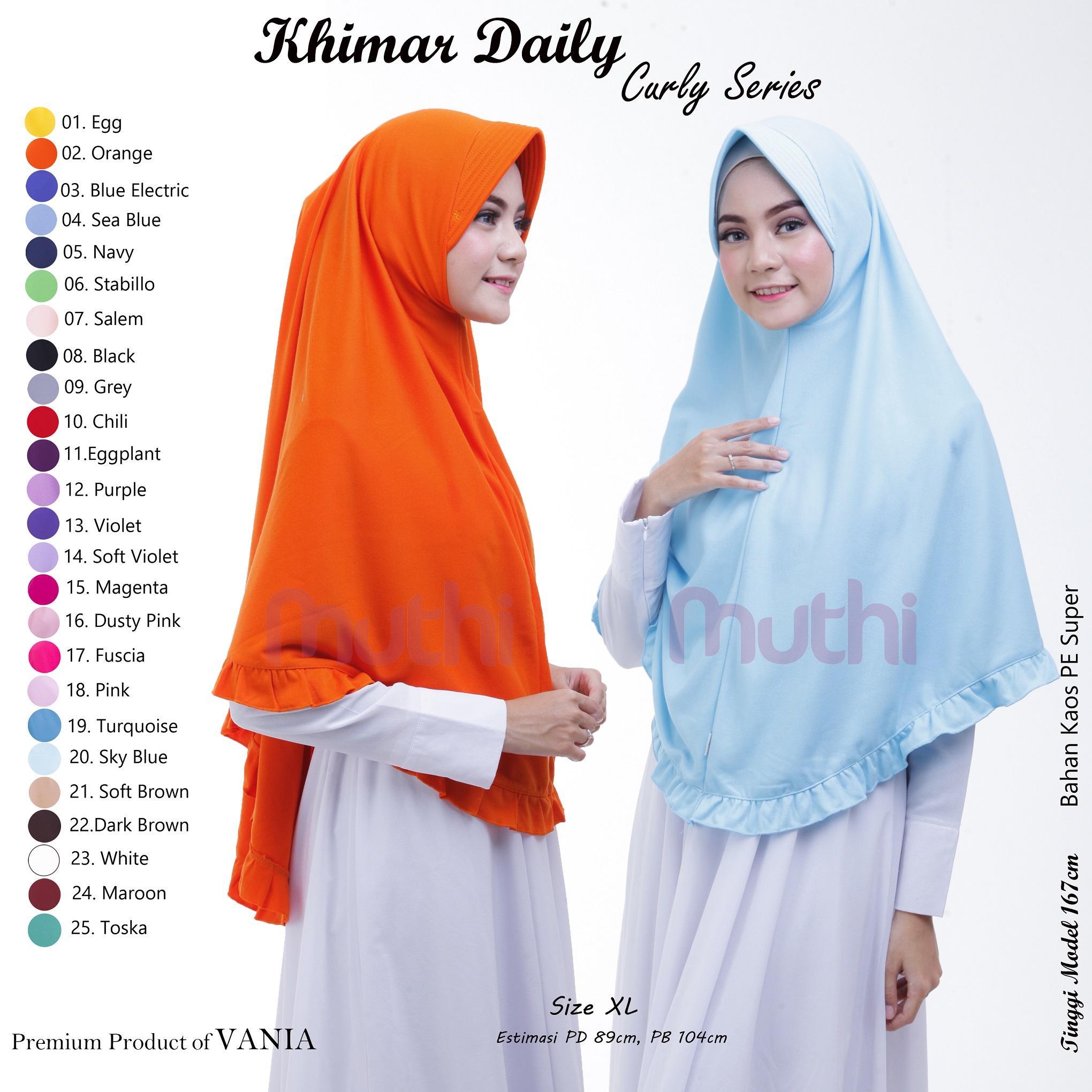 Jilbab Vania Muthi Khimar Polos Bergo Dewasa Besar Hijab Syar'i Instan Kerudung Termurah Terlaris