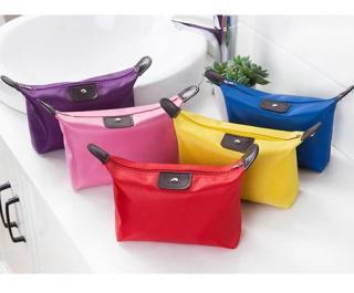 Tas penyimpanan Kosmetik Pouch Bag Cosmetic Korean Style Bentuk Pangsit Colorfull thumbnail