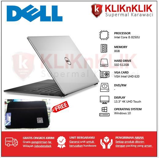DELL XPS 13-9370-8250U-8GB-512GB-4K-Touch-Win10 Silver