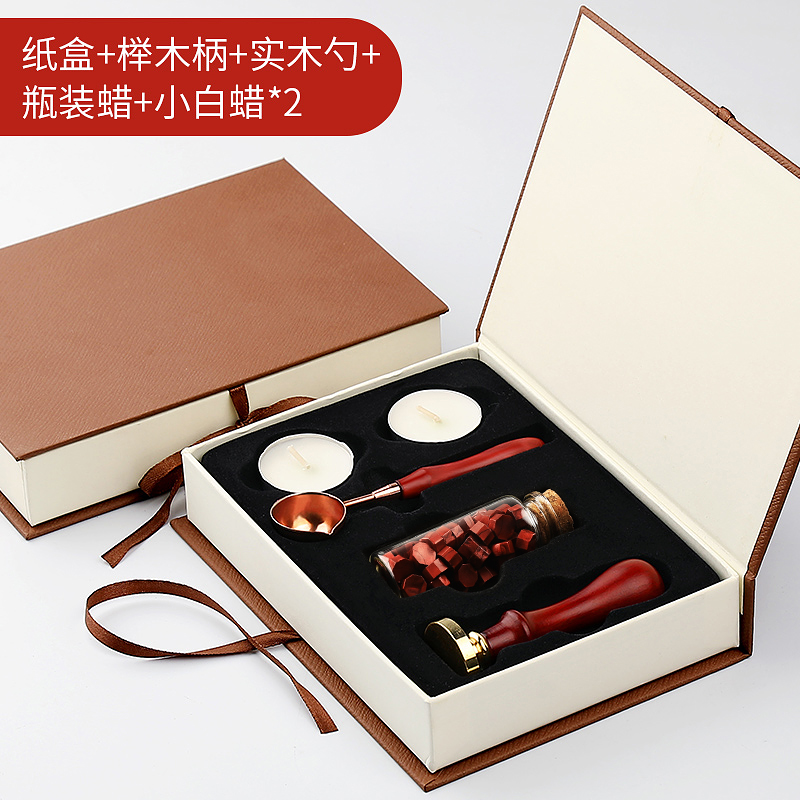 Y F Wax Seal Stamp Kit Ancient English Alphabet Letter Metal Seal Wax Stamps Sticks Candles Set