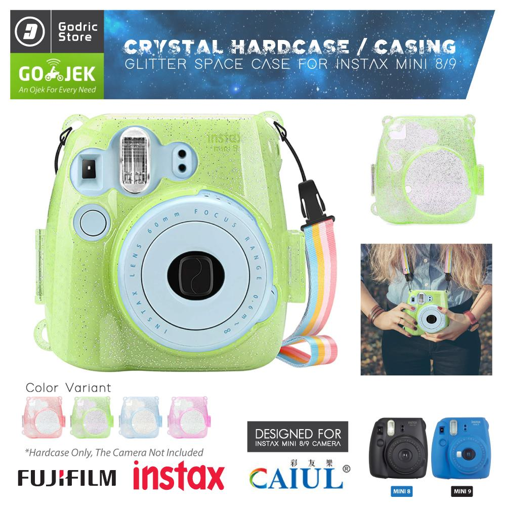 Fujifilm Hardcase GLITTER COLOR Polaroid Case Instax Mini 8 / 9 Casing Twinkle Transparan