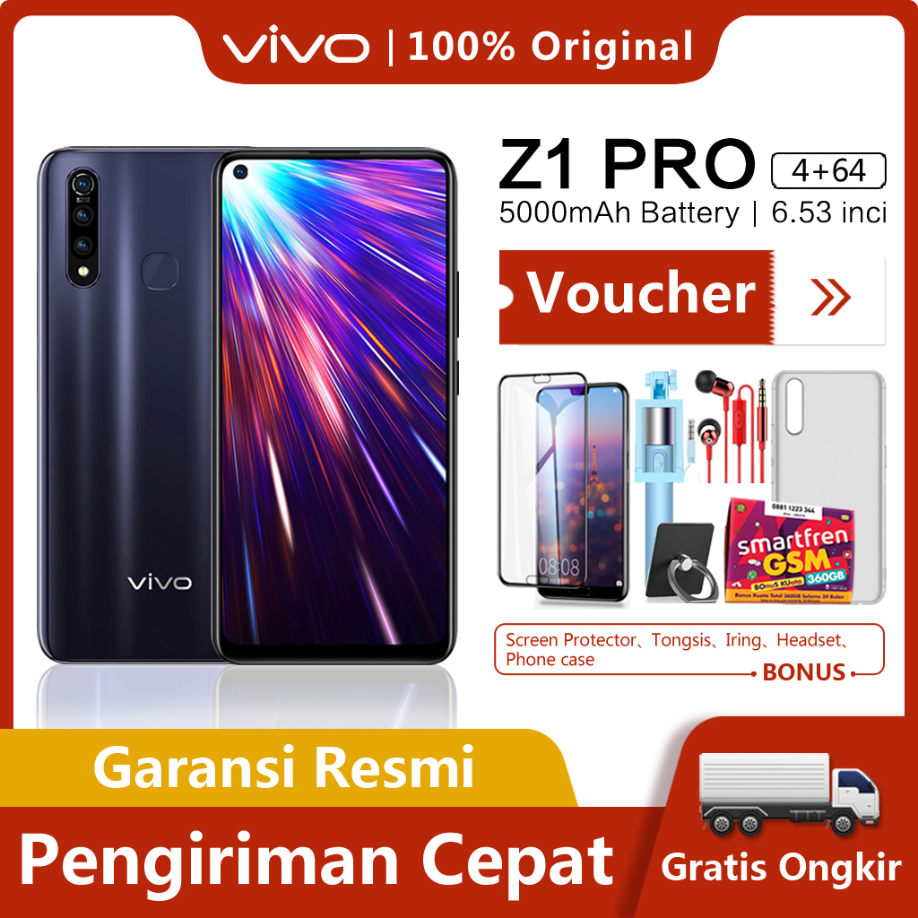 Vivo Z1 pro 4G/64G - COD,Gratis Ongkir,Snapdragon 712 AIE,Garansi resmi【 Please use the voucher 】