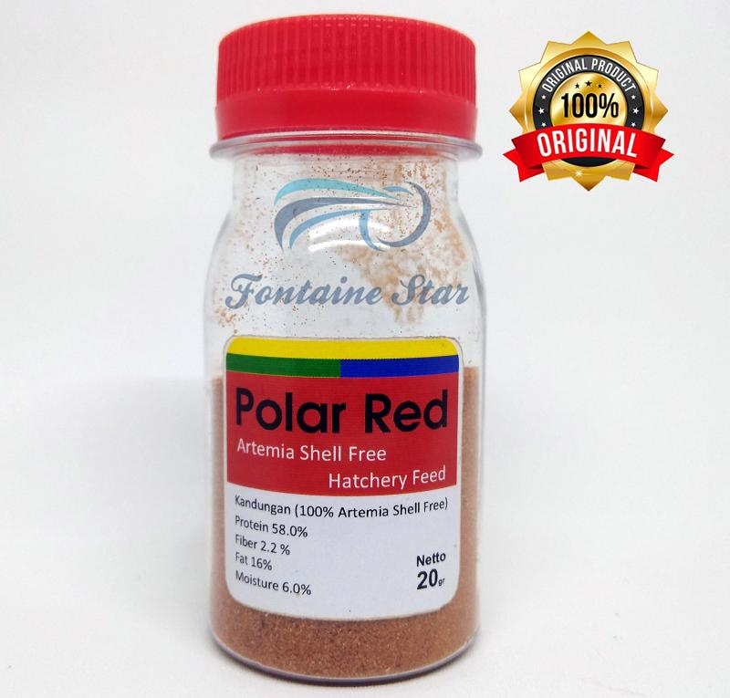 Artemia Shell Free Pollar Red 20 Gram By Fontaine Star.