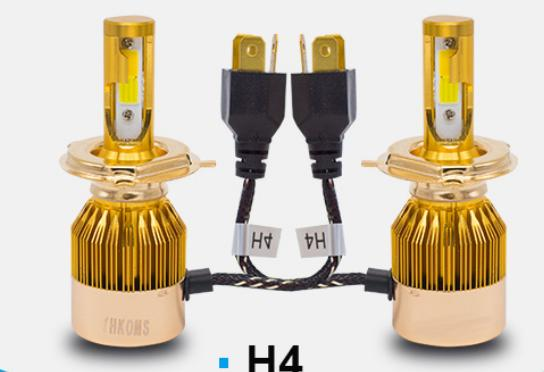 Lampu Depan Mobil Headlight C6 35 Watt Warna Putih Kuning H4 LED Head