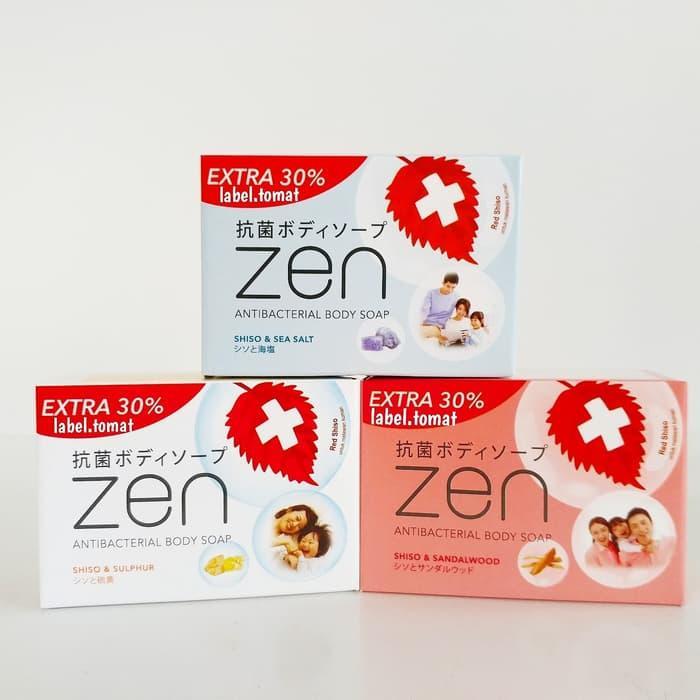 Paket Hemat 3pcs Sabun Batang Zen Antibacterial Body Soap 105 Gr - Original