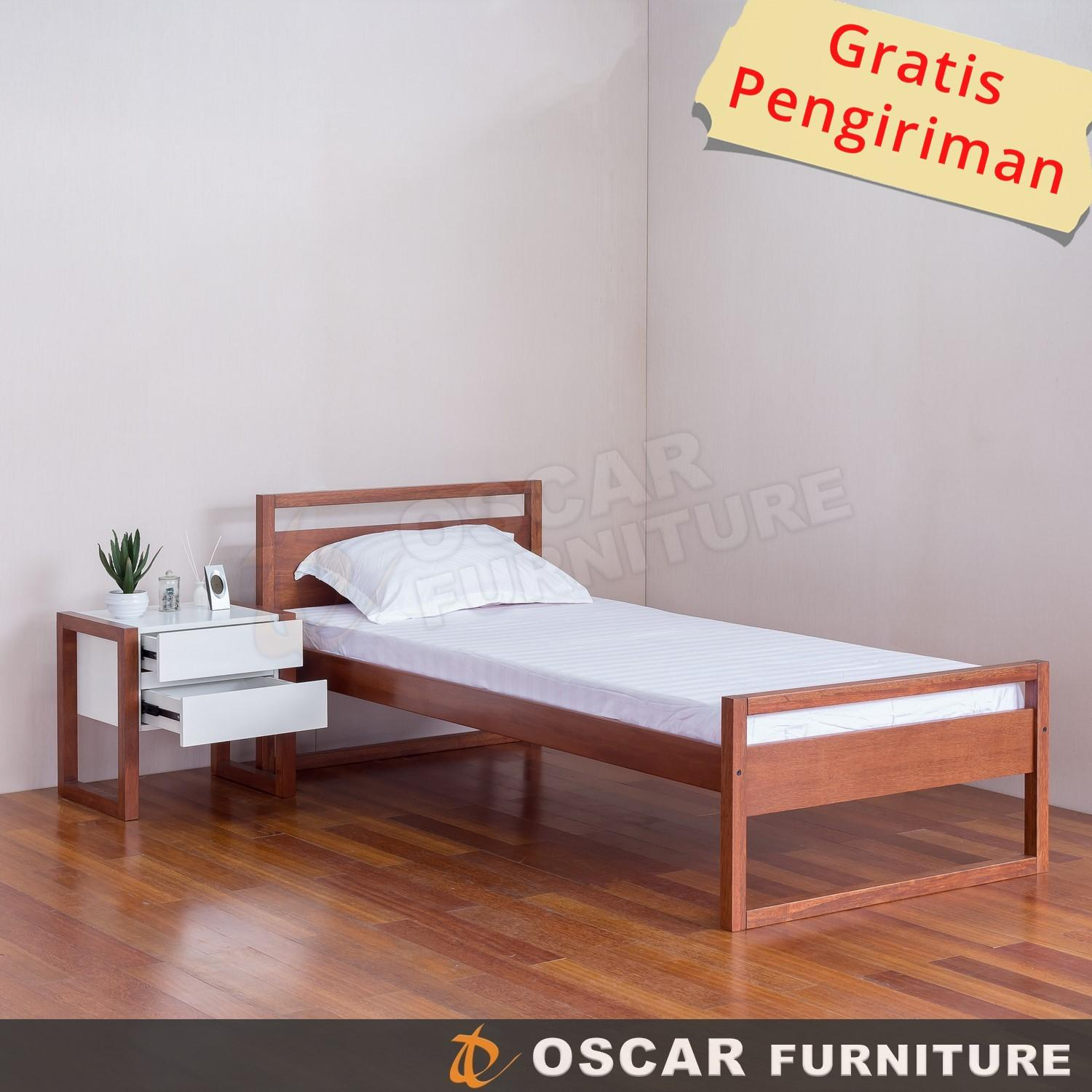 Oscar Furniture - Tempat Tidur Minimalis 90 X 200 (single) Seri Forte By Oscar Furniture.