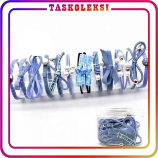 Taskoleksi - R122 IKAT RAMBUT MOTIF MUTIARA KARET FASHION JEPIT WANITA AKSESORIS STYLE KOREA BATAM IMPORT thumbnail