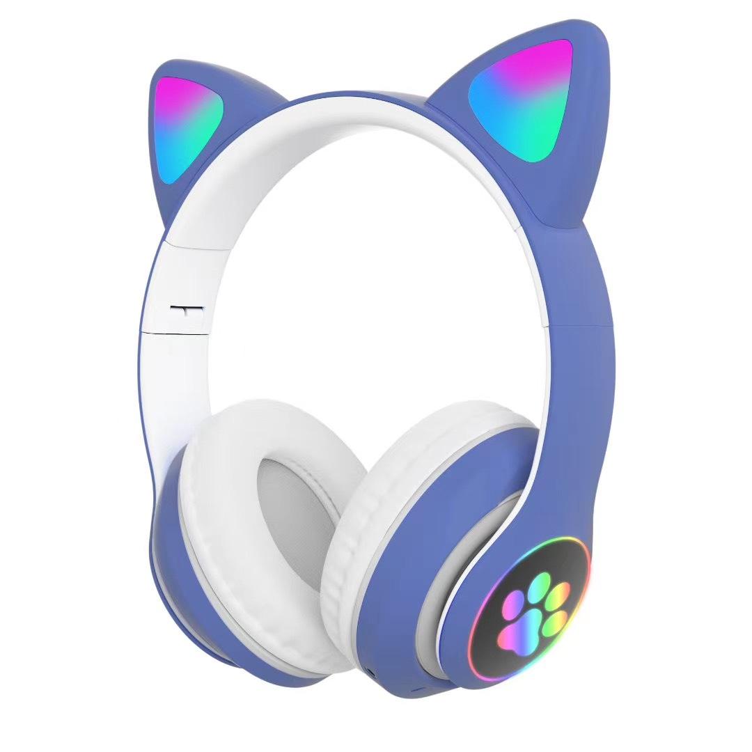Tai Nghe Bluetooth 5.0 Có Thể Gập Lại Tai Nghe Bluetooth Cho Người Lớn Âm Trầm Chống Ồn Hỗ Trợ Thẻ TF Với Micro Điện Thoại Tay Nghe Bluetooth Chơi Game Trực Tuyến Tai Nghe Thể Thao Không Dây Tai Mèo Bluetooth