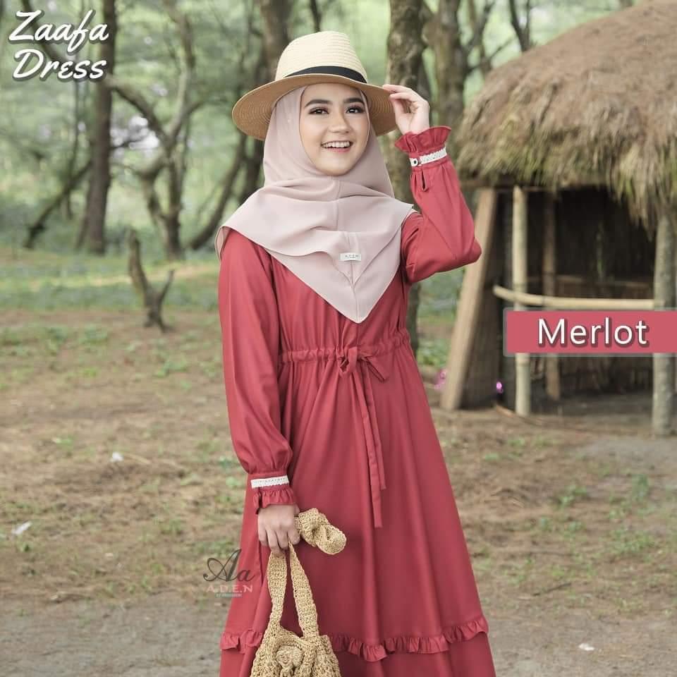 Gamis Syari Zaafa Ori A D E N Membeli Jualan Online Dress Dengan Harga Murah Lazada Indonesia