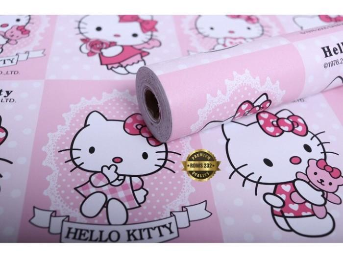 Walpaper Sticker Dinding Motif Karakter Hello Kitty 45cm X 10m By Home Store.