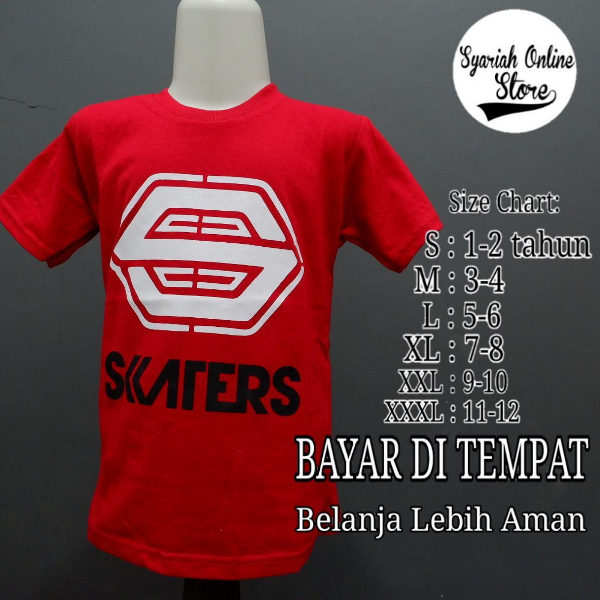 Kaos/baju Anak Motif Distro Skater By Syariah Online Store.