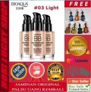 Bioaqua BB Cream Super Wearing Lasting 03-Light Concealer Foundation Coverage Krim Wajah Original Asli Waterproof 30ml + FREE Gantungan Lucu 1 Pcs thumbnail