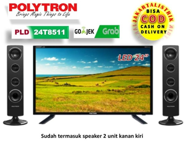 TV POLYTRON LED 24 24 inch CINEMAX PLD 24T8511 DAN SPEAKER