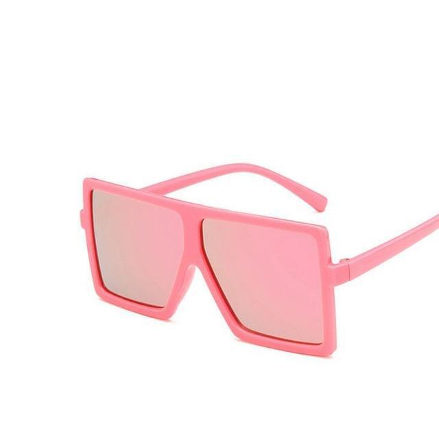a65c0edda722 Oversize Square Kids Sunglasses Girls Baby Boys Festival Punk Sunglasses  UV400 Glasses Children Oculos De Sol