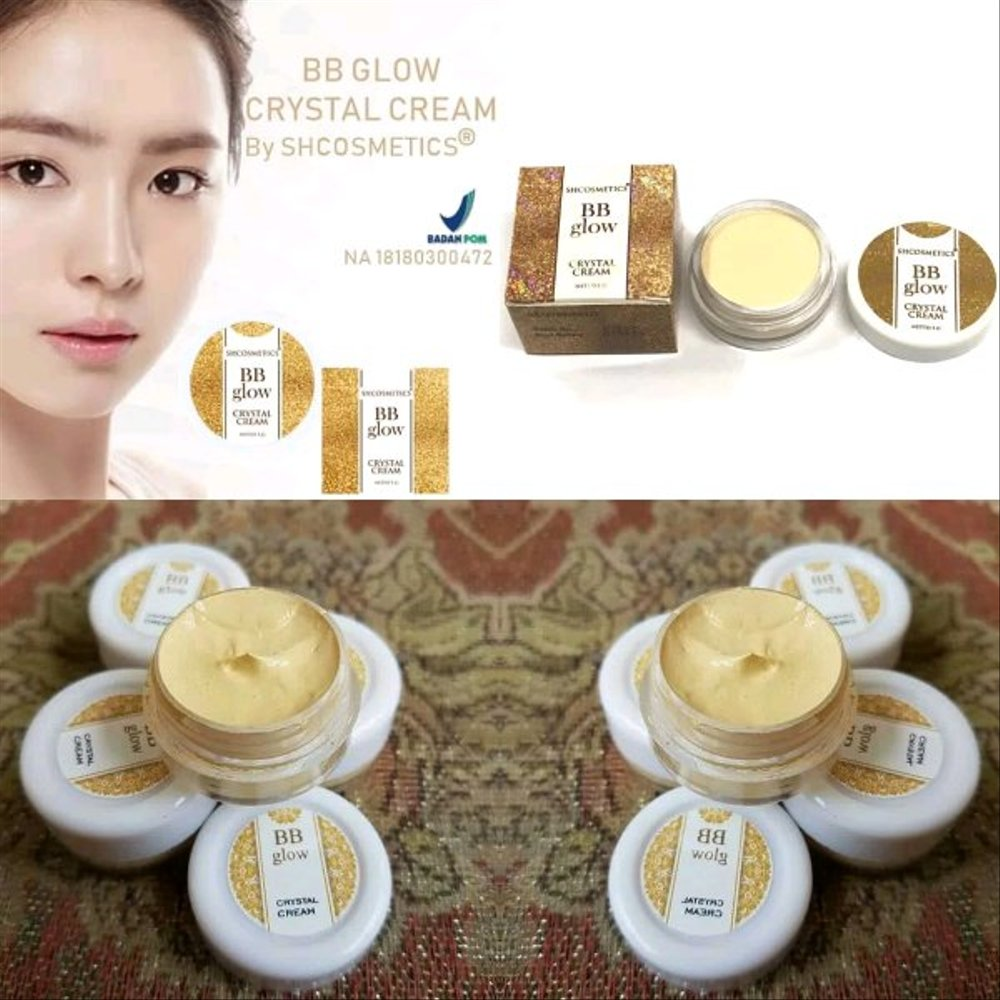 Alas Bedak Make Over / Fondation Wajah / Pelembab Wajah Wanita / Pelembab Muka / Cream Pemutih Wjah Glowing / Cream Glowing / BB Glow Crystal Cream Original BPOM / BB Cream / BB Glowing / BB Glow Crystal / Seperti Alas Bedak Wardah / Alas Bedak Purbasari