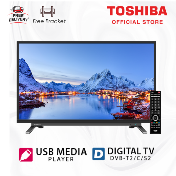 Toshiba LED TV - Digital 32 inch [Free Bracket] 32L3965