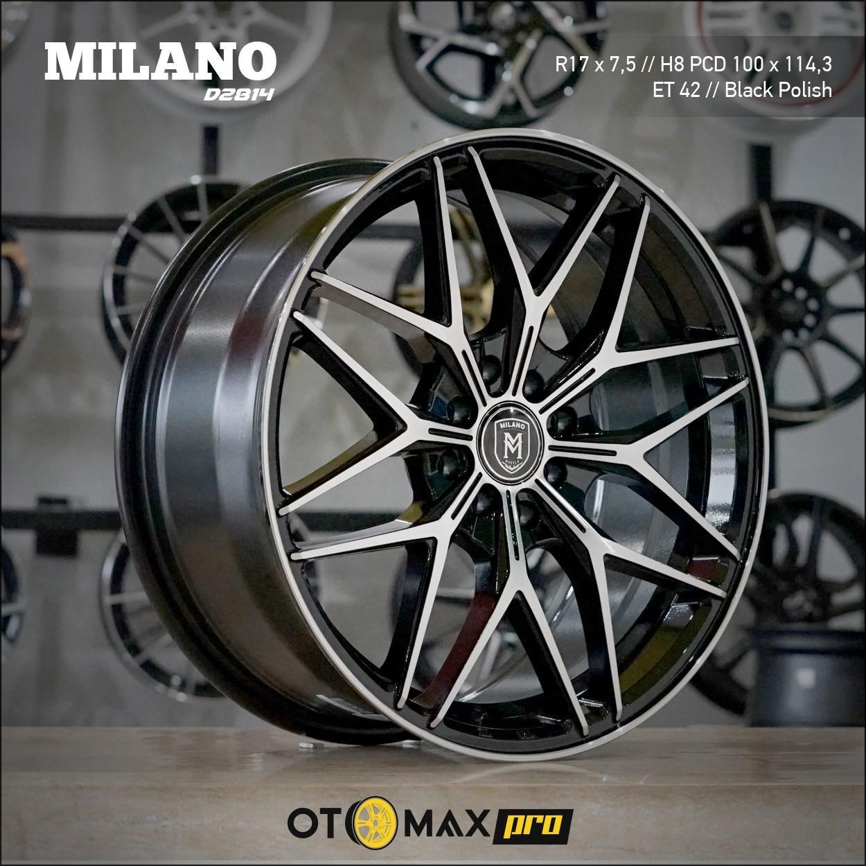 Velg Mobil Milano D2814 Ring 17 Black Polish