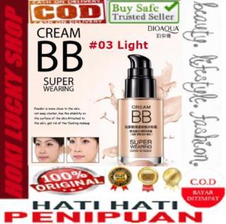 Bioaqua BB Cream Super Wearing Lasting 03-Light Concealer Foundation Coverage Krim Wajah Original Asli Waterproof 30ml thumbnail