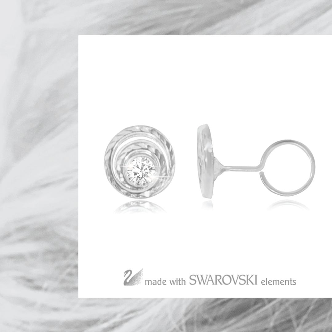 Littlethingshewear Selena Swarovski White Gold (1 Gram) By Littlethingshewearsemarang.