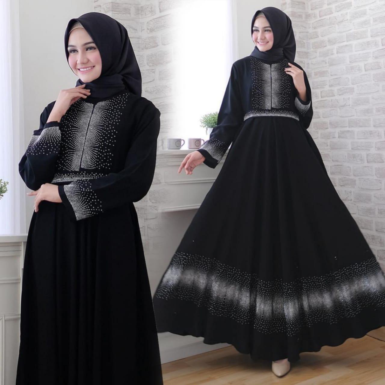 Gamis terbaru 11 terlaris gamis abaya arab hitam bordir Langsung- abaya  dubai muslim fashion terbaru/ gamis arab/ gamis muslim turkey_DD