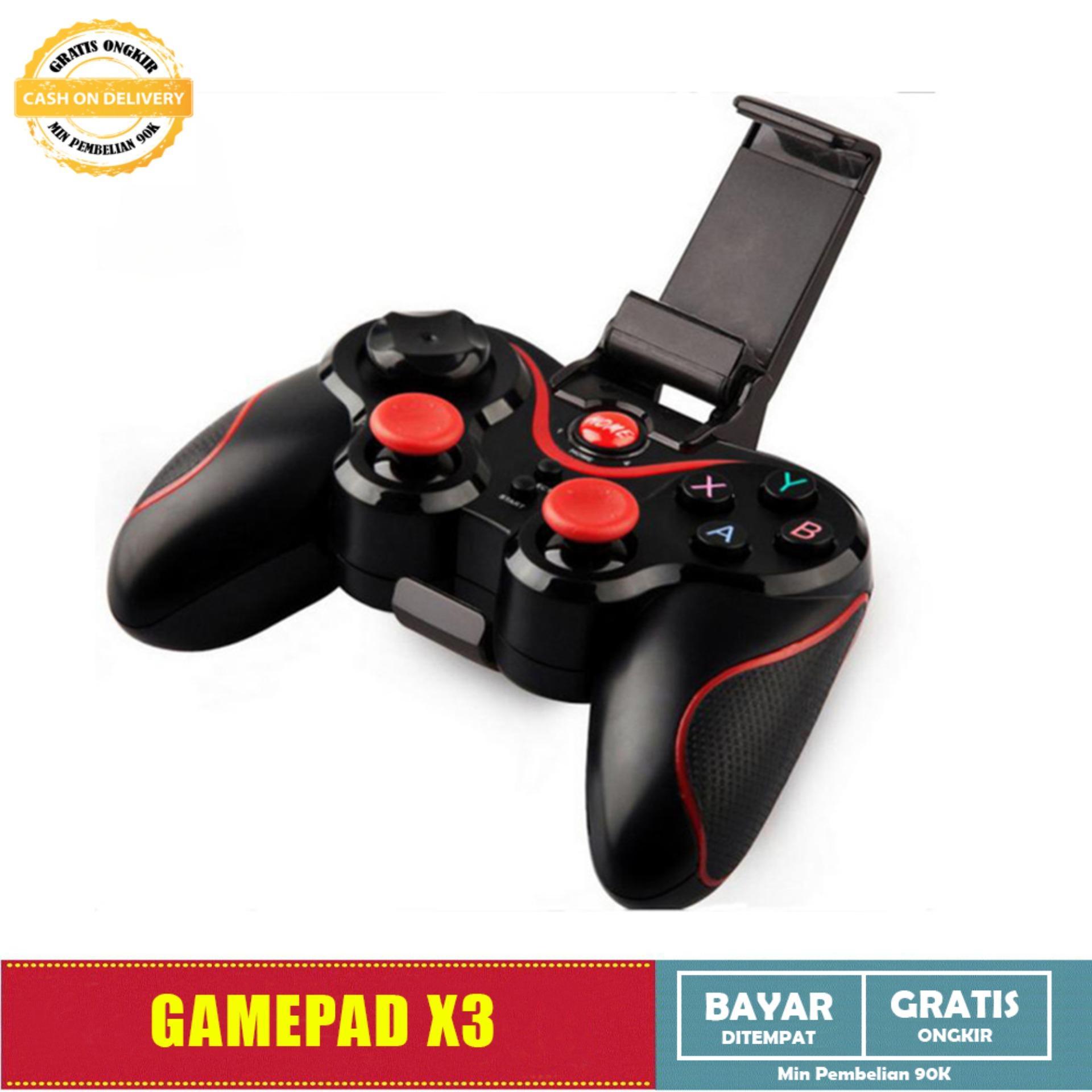 Smart Nirkabel Bluetooth Gamepad Gaming Wireless Controller X3 untuk Android Mobile HItam