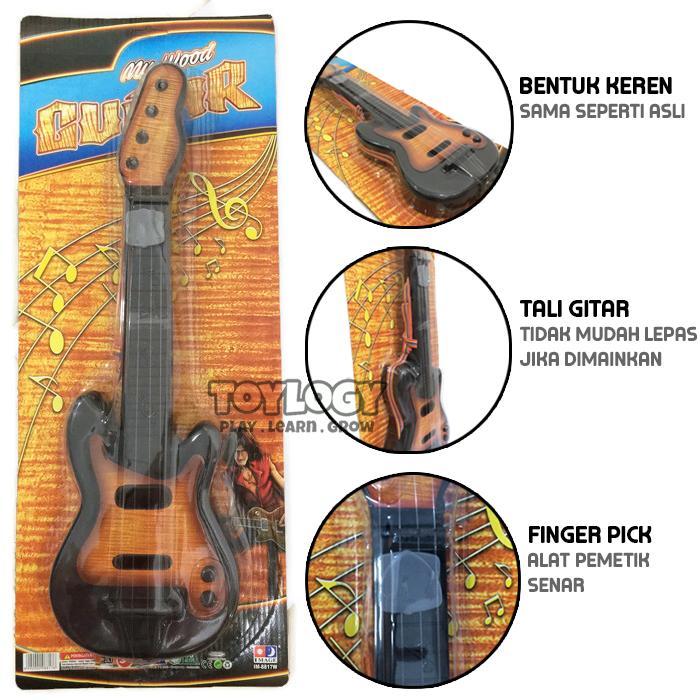 Toylogy Mainan Anak Gitar Klasik My Wood Classic Guitar Musik Music - Mainan Alat Musik Anak Edukasi - Black By Toylogy.