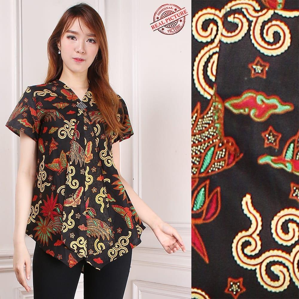 168 Collection Atasan Blouse May Kemeja Batik Wanita