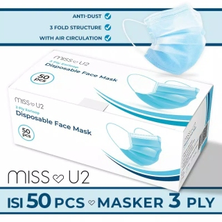 Disposable Protective Mask masker sekali pakai 1 box Masker 3PLY MOTIF BIRU Masker Pelindung polus i MaskerAnti kuman masker mulut masker mulut 1 box isi 50 murah BOX RANDOM thumbnail
