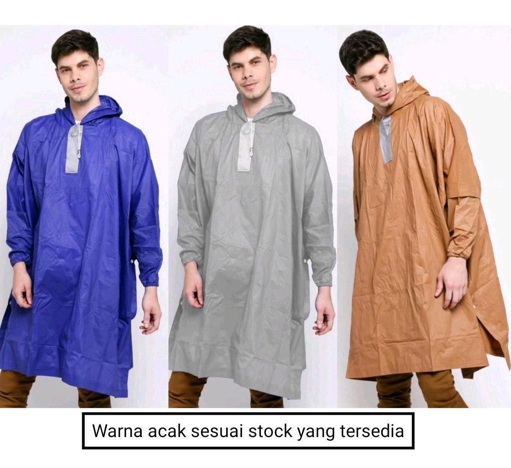 Mantel Jas Hujan Poncho untuk Pria Wanita