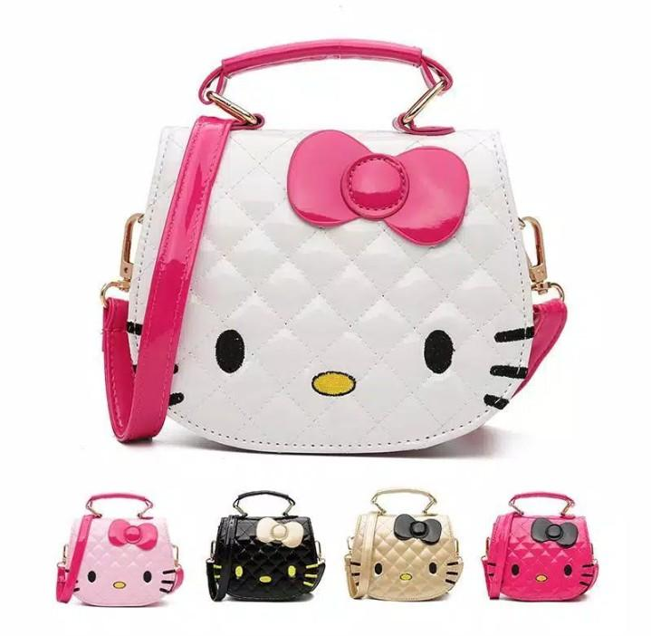 HN - TAS SELEMPANG PRINCESS - FASHION ANAK-ANAK IMPOR MOTIF HELLO KITTY