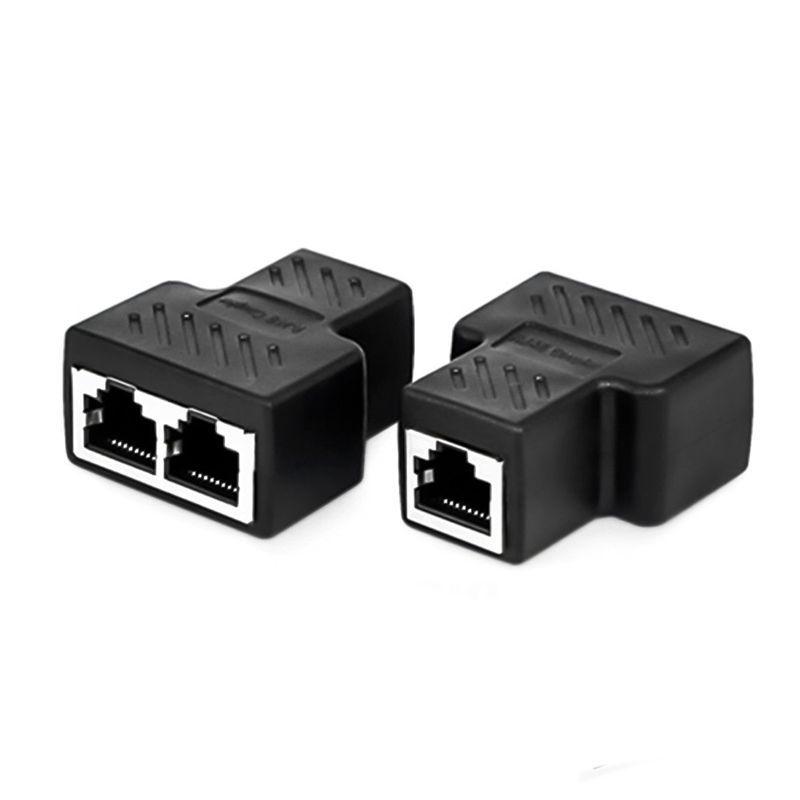 Bảng giá 2 Port RJ45 Splitter Adapter LAN Network Ethernet Extender Connector Plug Lot 2pcs Phong Vũ