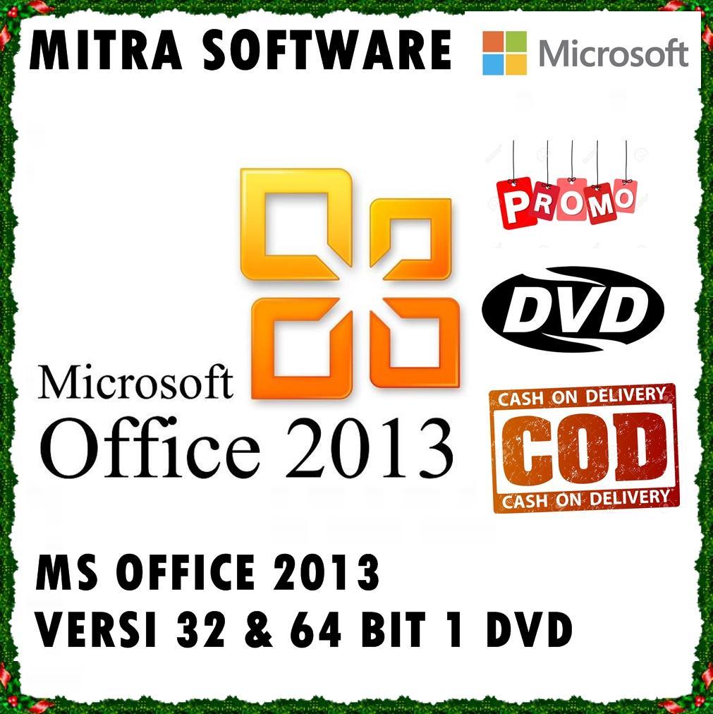 Microsoft Office 2013 Pro Full 32 & 64 Bit - DVD Install Office Word Excel Power Point - Lisensi OFFLINE