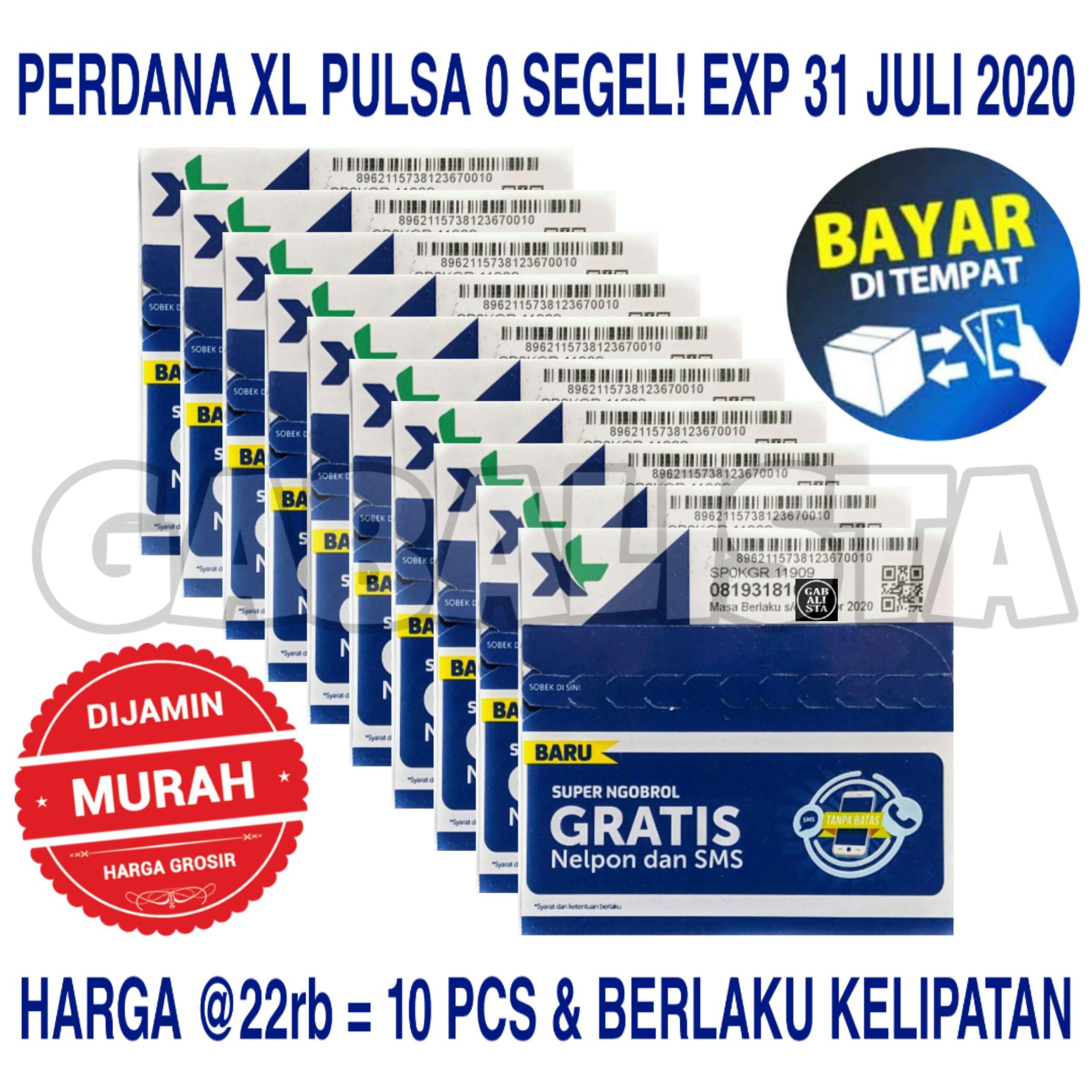 Kartu Perdana XL Pulsa Nol Harga Grosir / 10 Pcs