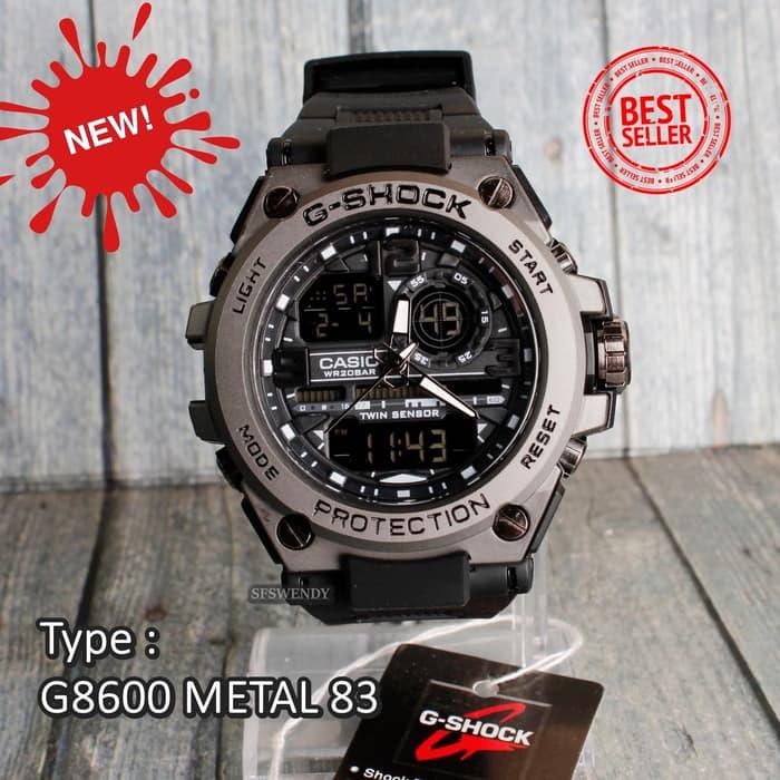 PROMO !!! - G Shock GST-8600 Metal Full Black Hitam pala besi jam