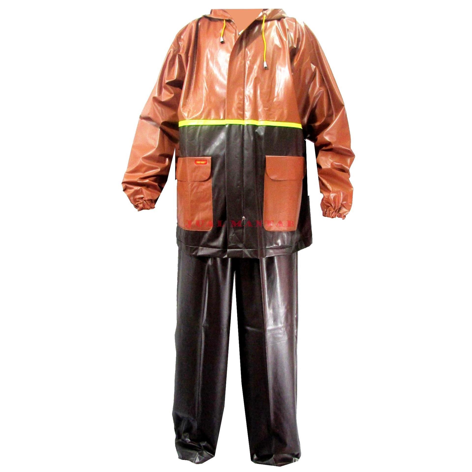Tiger Head Jas Hujan Setelan Big Top - Raincoat Dewasa Jaket Celana Pria Wanita Murah -