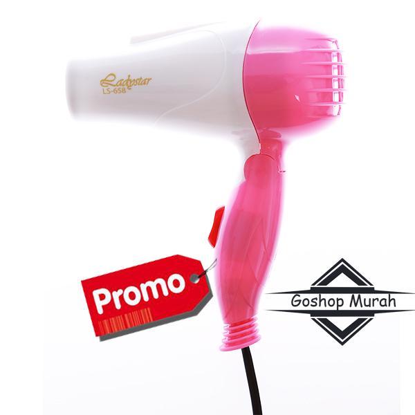 Hairdryer murah LadystarTravel Hair Dryer Type 658 - PINK 9de994edda
