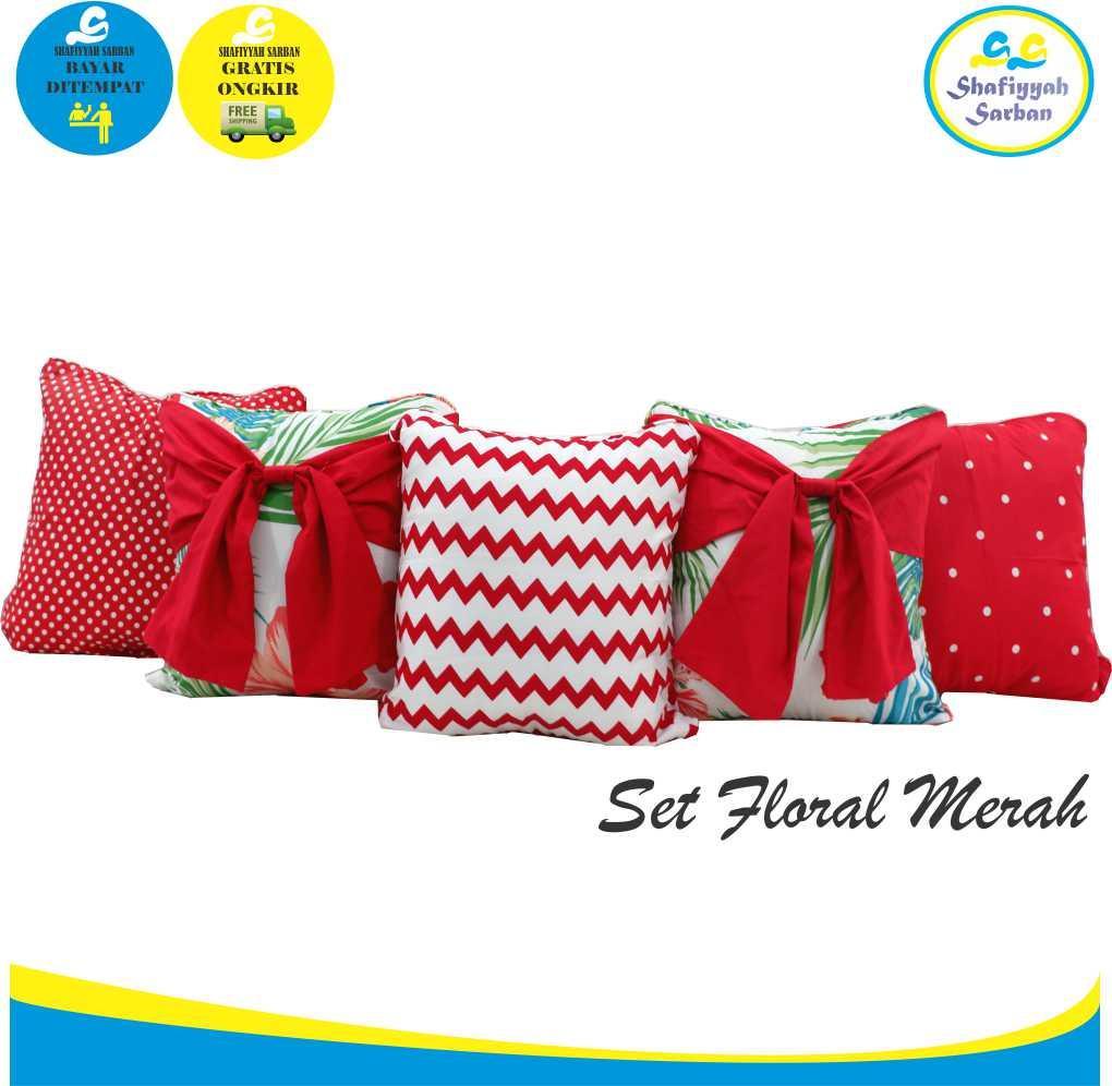 Shafiyyah.Sarban (1 SET / 5 PCS) Sarung Bantal Sofa / Kursi 40x40 cm